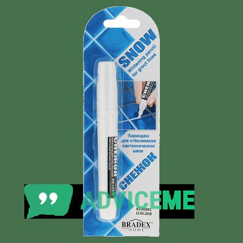 Отзывы о Bradex-Снежок — карандаш для отбеливания сантехнических швов - фото товара