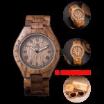 Часы из дерева Uwood + очки Uwood в подарок