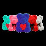 Мишки из роз ручной работы (разные размеры)