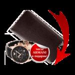 Портмоне + часы Armani