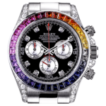 Rolex White Gold Daytona Rainbow часы