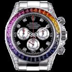 Rolex White Gold Daytona Rainbow часы