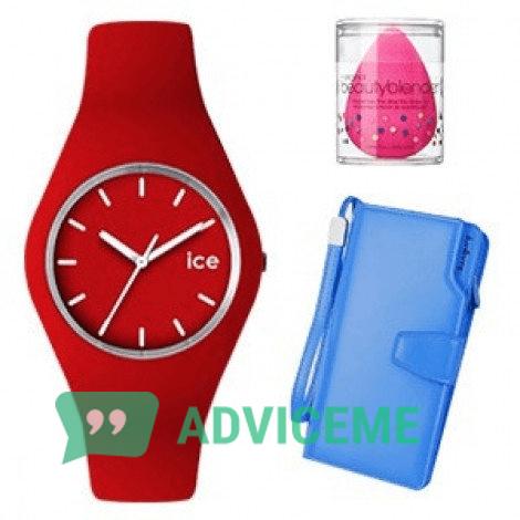 Отзывы о Ice — женские часы, портмоне Baellerry и спонж в подарок - фото товара