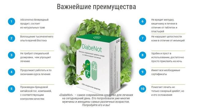 Натуральный состав «Diabenot»