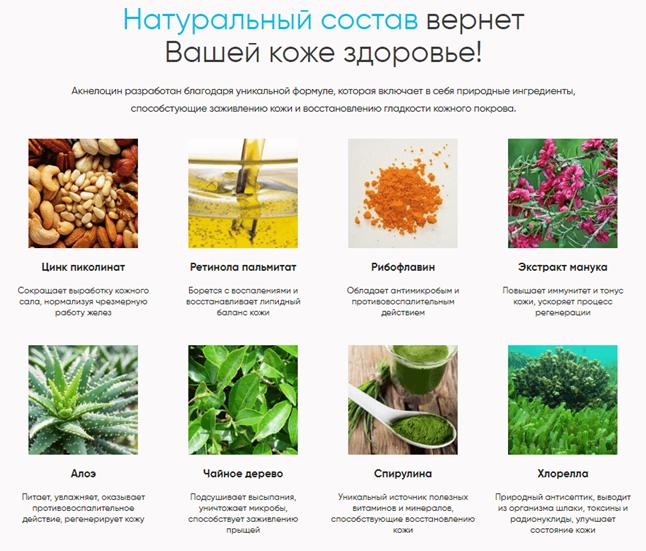 """""""Акнелоцин"""" от прыщей, состав"""